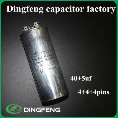 60 + 5 uf 450 v condensador de película cbb65 16u