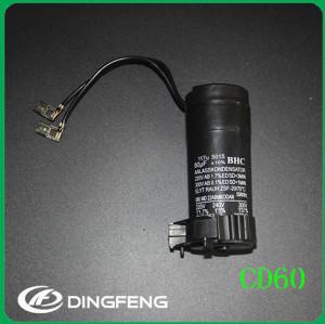 Compresor start capacitor cd60 250 v con tubos de plástico