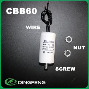 5 uf 250 v condensador 10 cm perno de alambre en el condensador