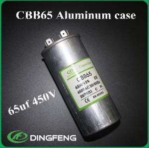 Lleno de aceite run capacitor cbb65a-1 condensadores de película