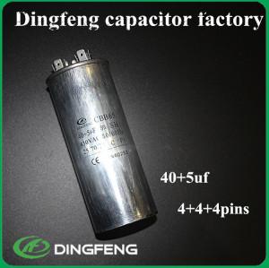 Ac doble condensador cbb65 condensador de aire acondicionado