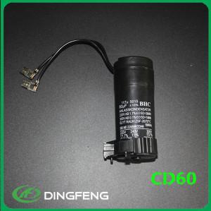 Polipropileno capacitor cd60 condensador de arranque del motor