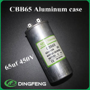 370 v película metalizada de poliéster cbb65 condensador cbb65 condensador del motor