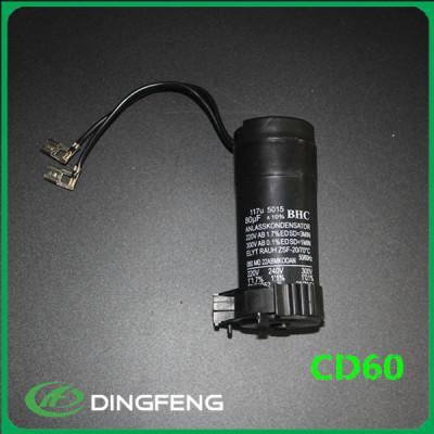 Inicio de ejecución cd60 condensador 250 v 200 uf condensador de arranque del motor