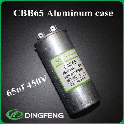 7.5 uf 370vac classb ac condensador cbb65 condensador de película