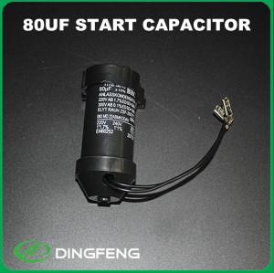 100 uf condensador de película de polipropileno condensador de arranque del motor