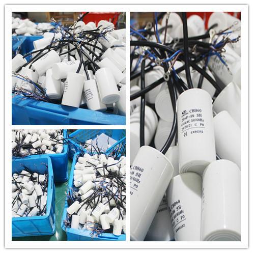 Alta calidad arandela condensador cbb60 450vac 7 uf condensadores 25 uf 400 v