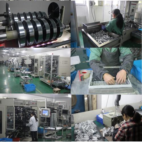 Cbb60 120 uf 250 v caja de tipo condensador de película de poliéster metalizado