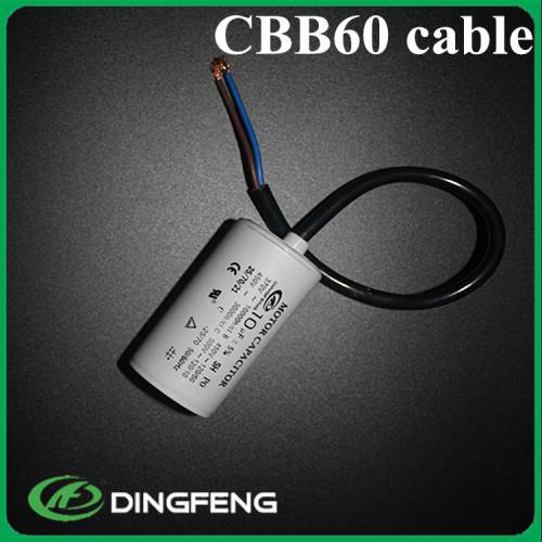 Precio de lista del condensador cbb60 condensador de funcionamiento para una sola fase en60252
