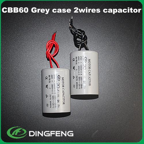 Zhejiang taizhou fabricar alambre cbb60 cbb60 450 v condensador de aire