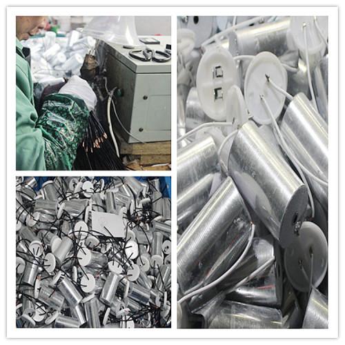Carcasa de plástico 12 uf 250 v condensador del motor tubo de plástico compresor condensador de arranque