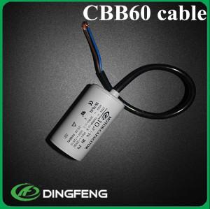 Cbb60 condensador 250vac 20 cm cable condensador cbb60 12.5 uf