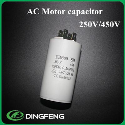 Cbb60 7 uf 450vac condensador del motor de ca cbb60 condensador de funcionamiento del motor