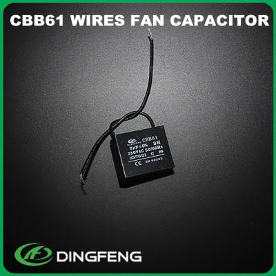 Condensador 25 uf 450 v condensador cbb61 ventilador de mesa de cableado