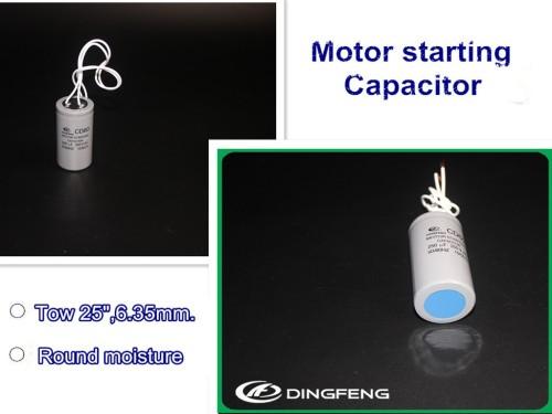 220 v eléctrico de arranque del motor de aluminio cable condensador