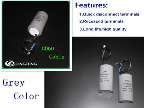 Cd60b aluminio de aire del compresor start capacitor