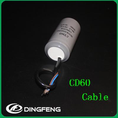 Tubo de plástico cd60b cd60 condensador de arranque condensador de arranque del motor