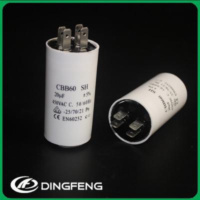 Cbb60 4 pines con tornillo m8 50/60 hz pp plástico run capacitor