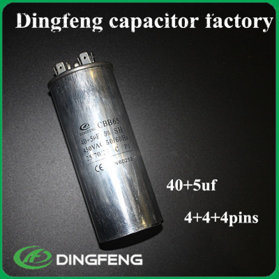 Cbb65 45 uf 450vac condensador de aire acondicionado