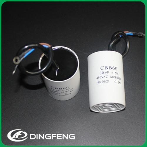 100 unids/ctn condensador ac motor cbb60 condensador 24 uf