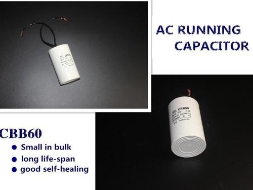 Condensador 80 uf cbb60 condensador de película de poliéster 300vac de metal