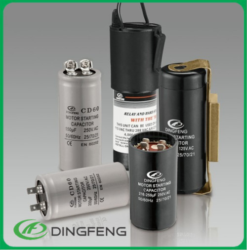 Cd60 condensador electrolítico condensador de arranque del motor condensador 100 uf