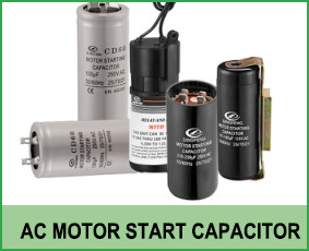 condensador de arranque del motor de corriente alterna