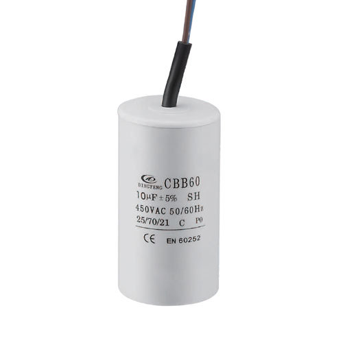 cbb60 50 / 60hz 25/85/21 مكثف للمحرك الكهربائي تشغيل الأسلاك البلاستيكية