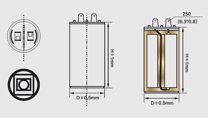Condensador corriente AC CBB60