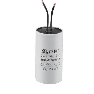 Condensador wiki de la bomba de agua del motor de CA con 2 cables 2.5mfd 250vac 50 / 60hz 2.5uf