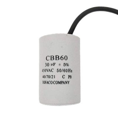 100pcs / ctn مكثف ac محرك cbb60 مكثف 24uf لكهرستر المحرك مضخة مياه مليئة الراتنج