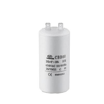 Condensador de funcionamiento del compresor de aire del condensador de aire cbb60 250v 400v 16uf