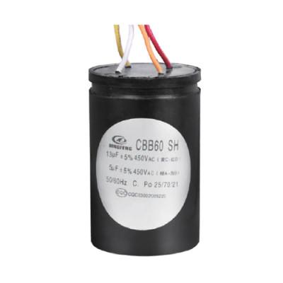 cbb60 4 cables lavadora condensadores motor de ca condensador 12 + 5uf 25/70/21 50 / 60hz