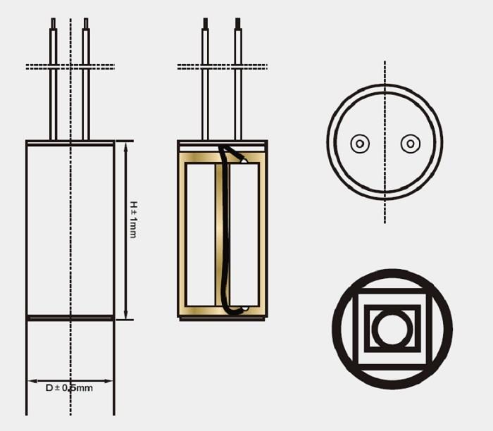 capacitor for motor en60252 polypropylene capacitor cbb60