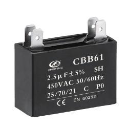 Condensador electrolítico cbb61 24uf 250v al precio del capacitor cbb61 1uf 400vac