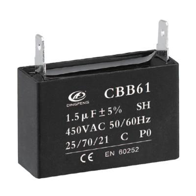 Cbb61 condensador 1.5uf 450 voltios regulador de ventilador precio 250v 50 / 60hz