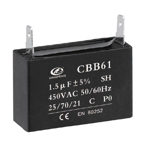 مكثف cbb61 مكثف 1.5uf 450 فولت منظم سعر 250v 50 / 60hz