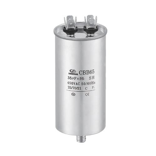 Motor doble del condensador cbb65 de la CA del condensador del aire acondicionado 10uf que se ejecuta para el aire acondicionado