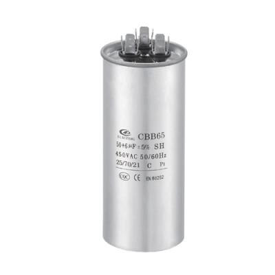 ac مكيف الهواء microfarad مكثف cbb65 25uf الممعدنه البوليستر مكثف