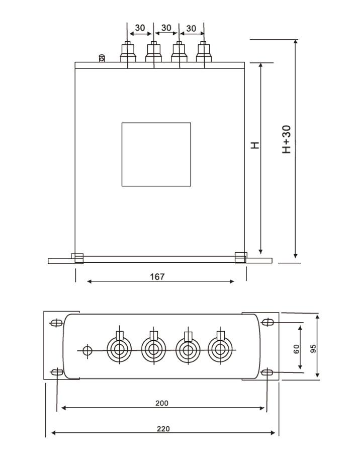 Carcasa cilíndrica de aluminio con base capacitor ANATOMÍA