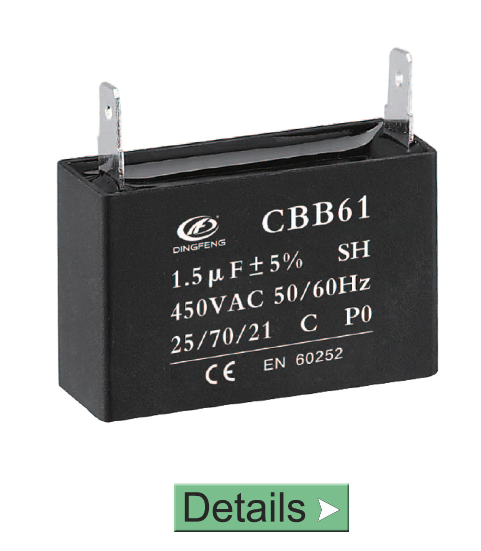 CBB61 CAPACITOR 1.5UF 450 VOLT FAN REGULATOR