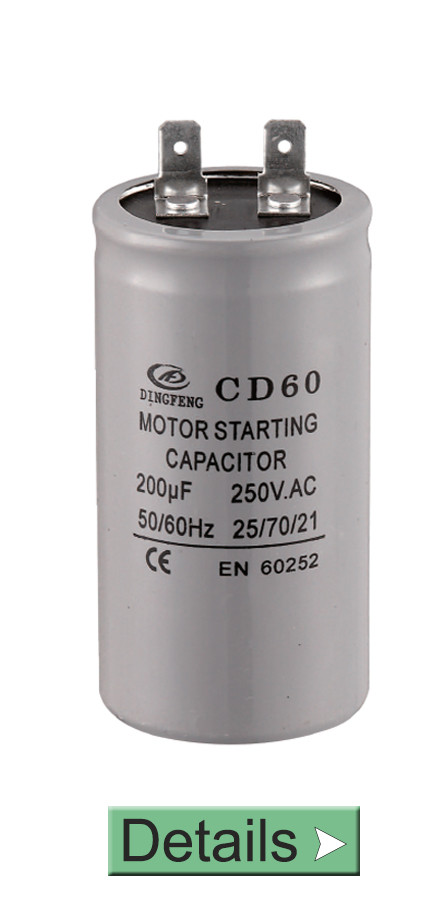 CD60 CAPACITOR 200UF 250V 105K AC MOTOR START CAPACITOR FOR COMPRESSOR