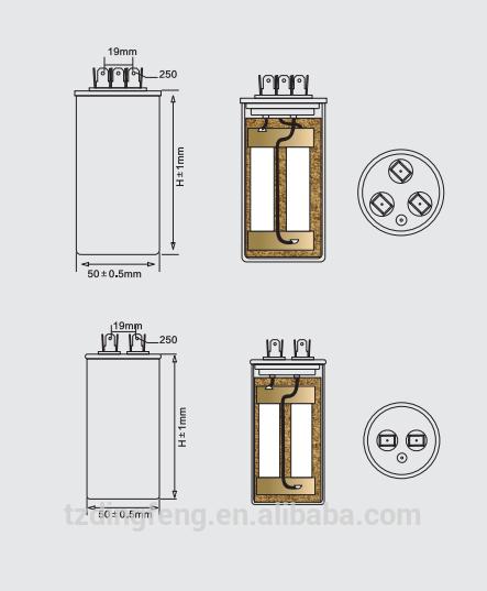 450 v CBB445 refrigerador compresor condensador 25 uf