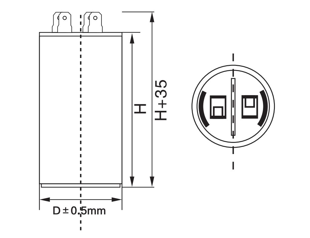AC running capacitor CBB60