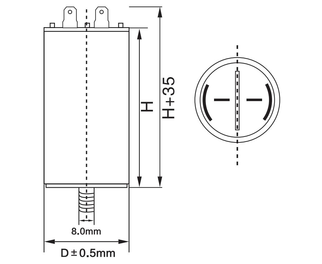 ac motor running capacitor anatomy