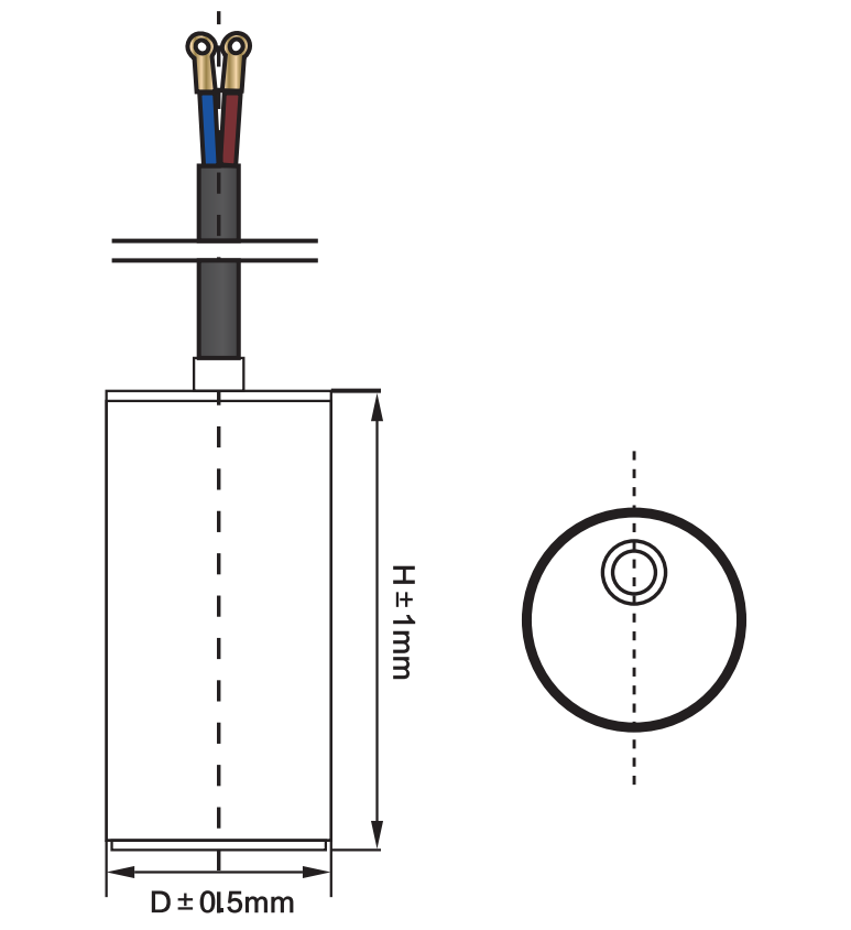 motor run capacitor with screw nut anatomy