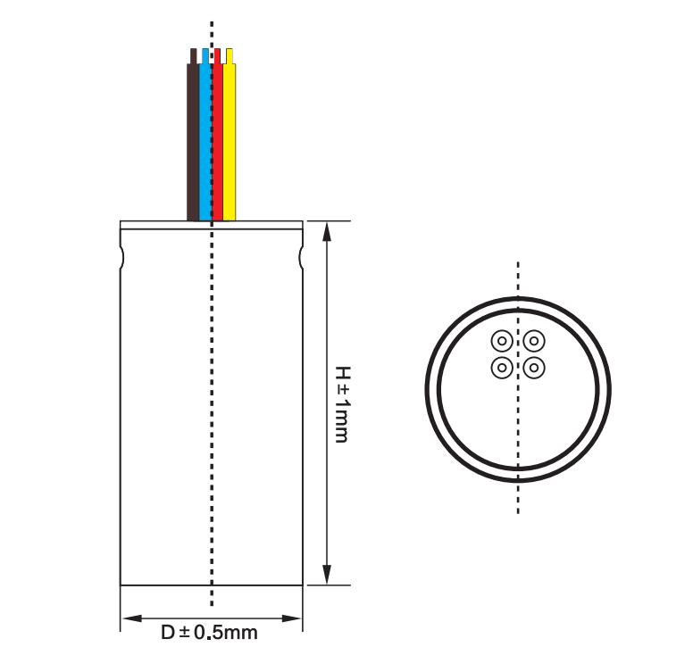 4 wires washing machine capacitors ac capacitor 125uf