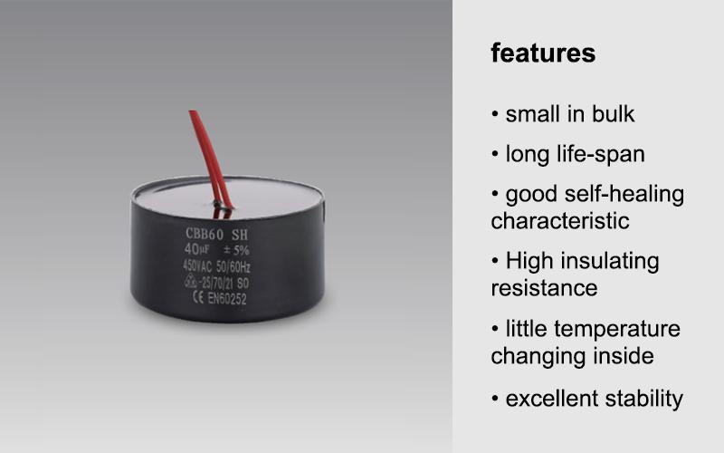 AC runnimg capacitor resin for sealing