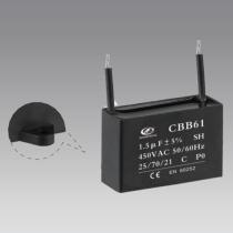 cbb61 Film capacitor 1.5uf 400v capacitor fan capacitor price 2 wires 50/60 hz 25/70/21
