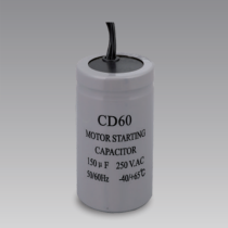 CD60 start 330uf 200v aluminum electrolytic capacitor with two wires